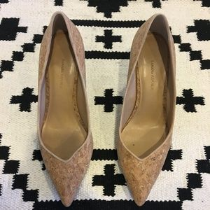 Banana Republic Shoes - Banana Republic pointed toe cork heels